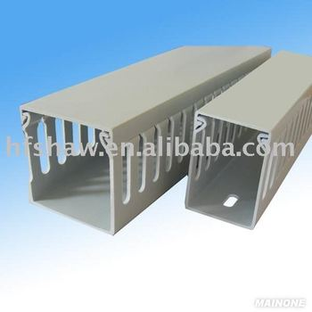 (High Quality)Gray Wiring Duct (Slotted),Electrical Trunking Wiring Cable Duct With Cover