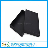 Wholesale black t-shirt package cardboard packing box with lid