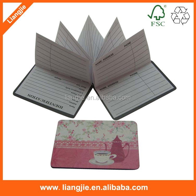 High quality cute zigzag paper note pads,memo pad, z-note