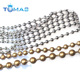 Wholesale custom stainless steel ball chain on spool