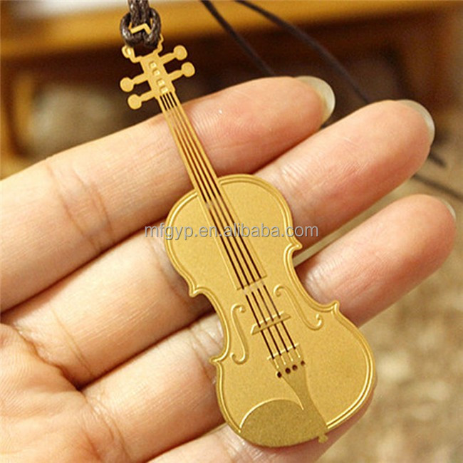 wholesale art and craft violin custom metal bookmark