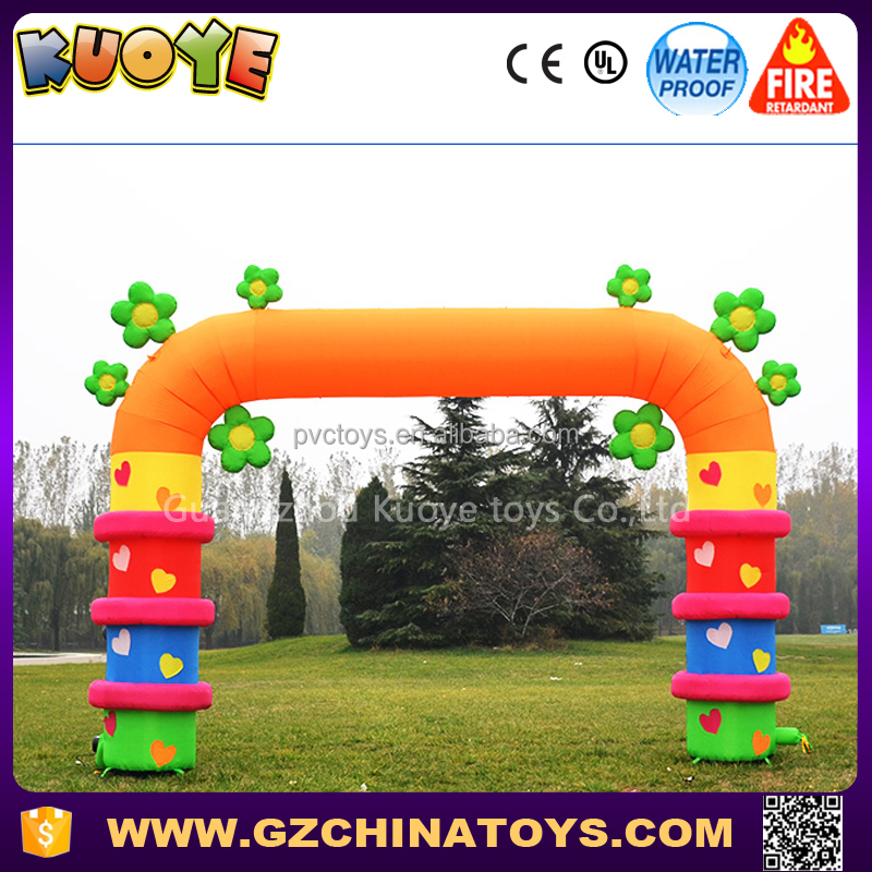 alibaba guangzhou inflatable wedding entrance arch for party