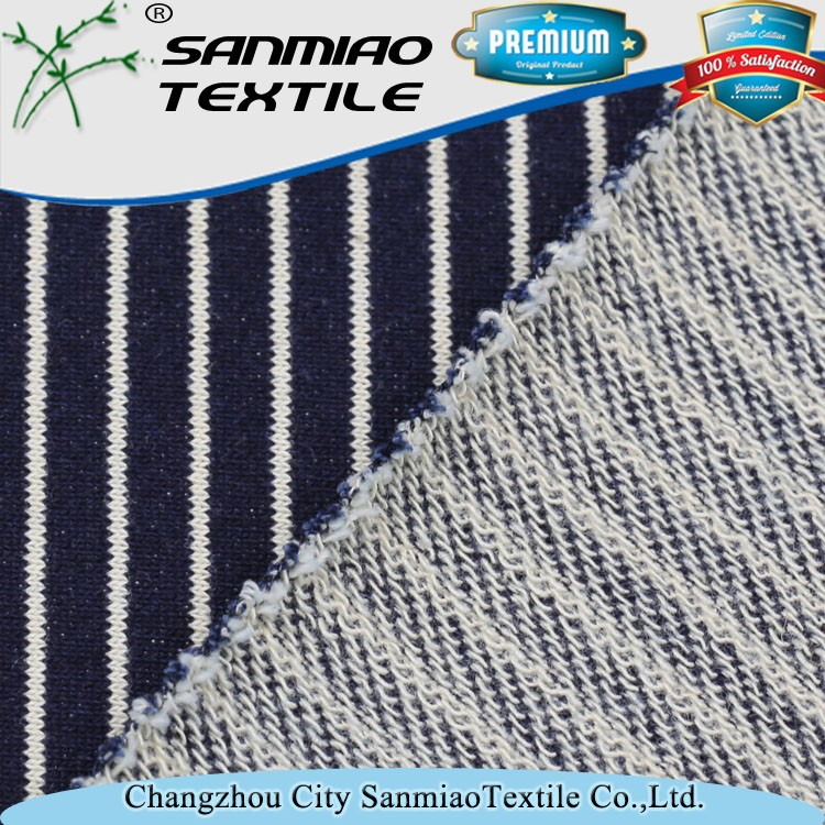 China supplier 100 cotton stripe knitted fabric by circular machine WHCP-02A