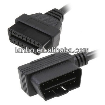 2014 NEW OBD2 OBDII 16 Pin Male to Female Extension Cable Car Diagnostic Extender 100cm