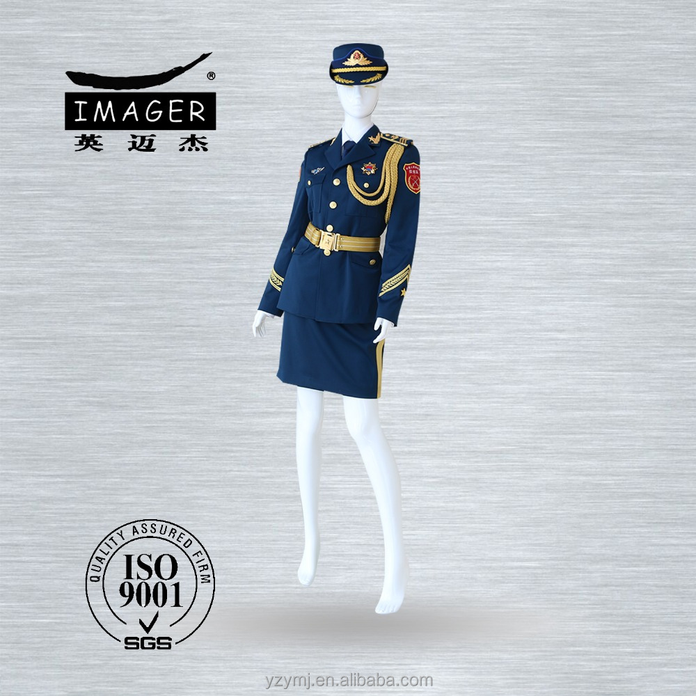 Female military dress uniform for airline stewardess and air hostess