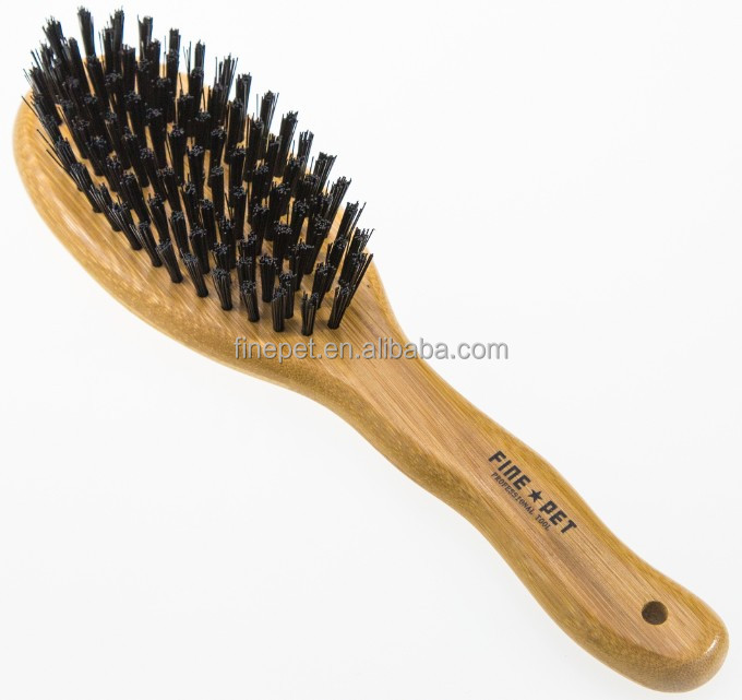 Dog Groomng Brush with bristle cleaning