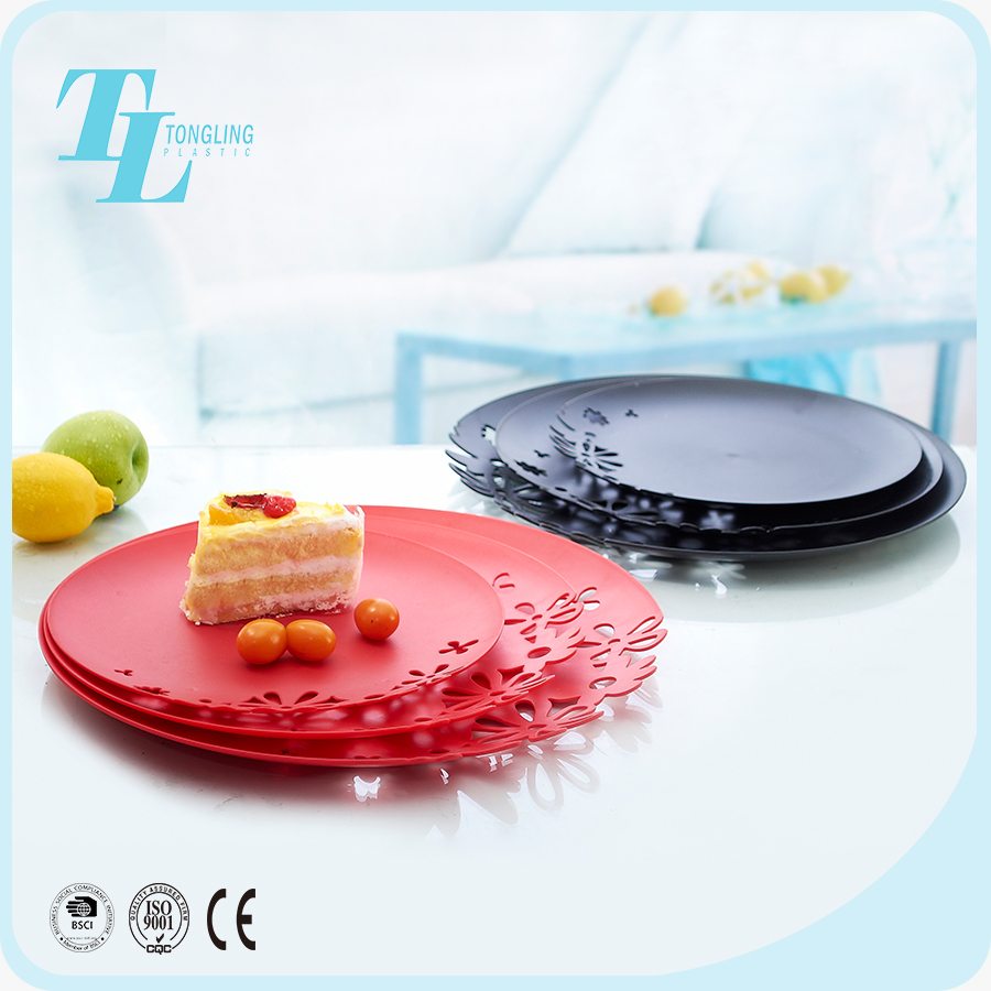 Wholesale candy dry fruit snack plate decoration tray plastic acrylic dish