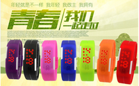 factory fashion cheap led watch waterproof silicone led watch