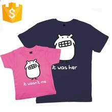 Custom design girls printed child t-shirt