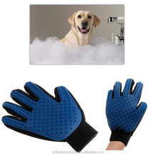 2017 new arrival as seen on tv products pet glove cleaning brush 2 in 1 grooming glove