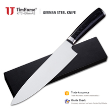 8 inch Germany 1.4116 stainless steel chef knife pakka wood handle kitchen knife circle handle