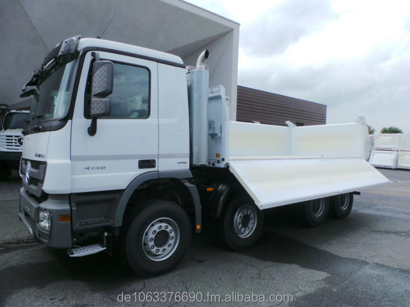 Mercedes-Benz 4146 K 8x4 Meiller 3-way tipper Bordm.