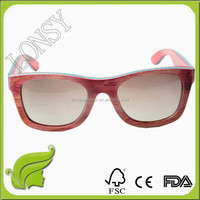 100% natural wholesale handmade spring hinge bamboo and wood sunglasses china manufacturer GA025-1