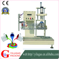 Semi-automatic paint cover the pressure filling machine
