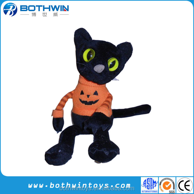 2016 new Halloween plush black cat toys