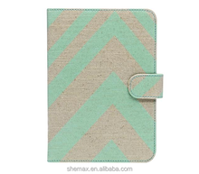 Chevron and On Folio Tablet Leather Case for Apple iPad mini 3 with Retina display