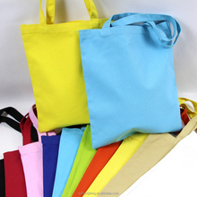 Blank handmade canvas bag custom art gift canvas shopping bag colorful cotton shopping shoulder tote bag