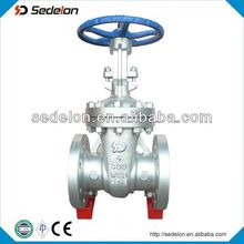 300LB WCB Rubber Wedge Hand Wheel Gate Valve