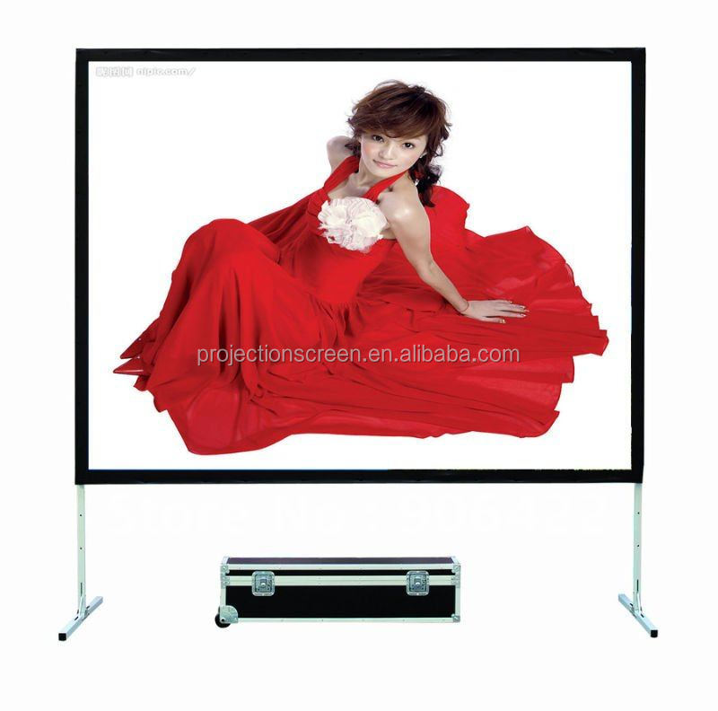 High gain 3D front fast fold projection screen,projection screen, easy move and portable, front and rear projection screen
