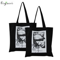 Custom Design Digital Printing Cotton Canvas Shopping Tote Bag