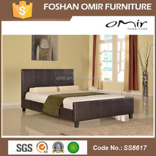 SS8617 Omir furniture Germany Style and Comfortable-Elegant-wooden pu bed designs