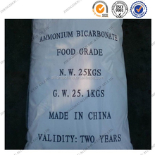 China manufacturers 99.2% NH4HCO3 white crystal powdered ammonium bicarbonate