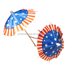 Cocktail Decorative Drink Umbrella Bamboo Tropical Drink Umbrella Picks