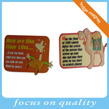 3d customized high quality vinyl printing fridge magnets for gift cheap made in China for promotion