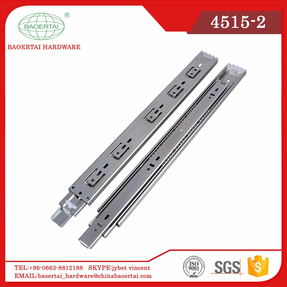 Home Fitting Jieyang Telescopic Channel 45mm Rainbown Plating Drawer Slide