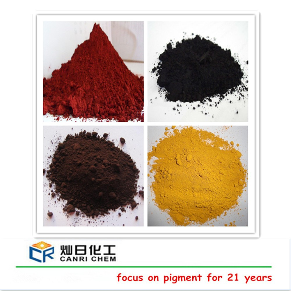 iron oxide types and inorganic pigment red colored mulch for paver tile/cement/concrete/paint