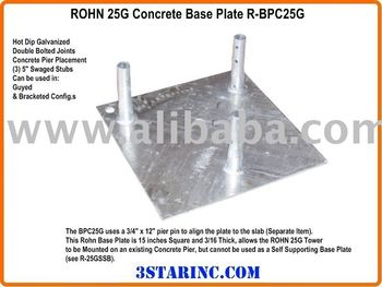 ROHN 25G Tower Concrete Base Plate R-BPC25G