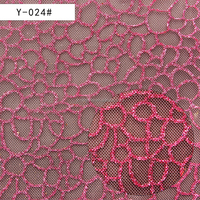The china supply flower print mesh fabric For shoes