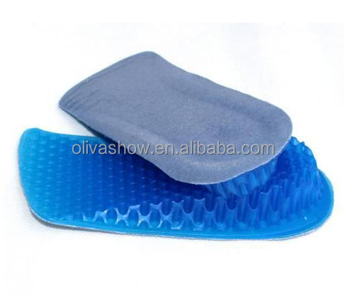 Gel Soft Height Lifts-up Increase socks Insole Honeycomb Half Invisiable Increasing Shock Absorber Insoles Shoe Inserts