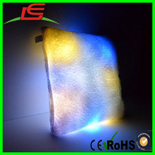 Decorative Shaped Illuminated Square Glow LED Light up Couch Pillow