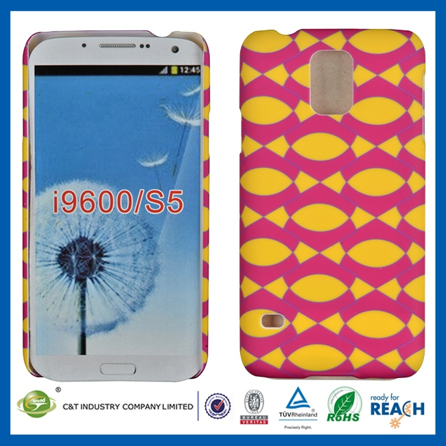 Fashional mobile phone plastic cellphone pouch for samsung s5