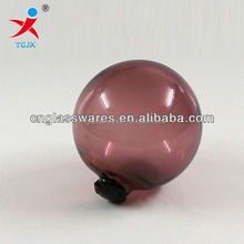 PURPLE COLORED HOLLOW GLASS BALL
