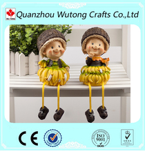 European style cheap resin fruit dolls for home decoration