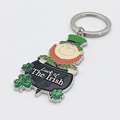 Wholesale Souvenirs Luck of The Irish Key Chain St. Patricks Day Metal Lucky Ireland National Keyring