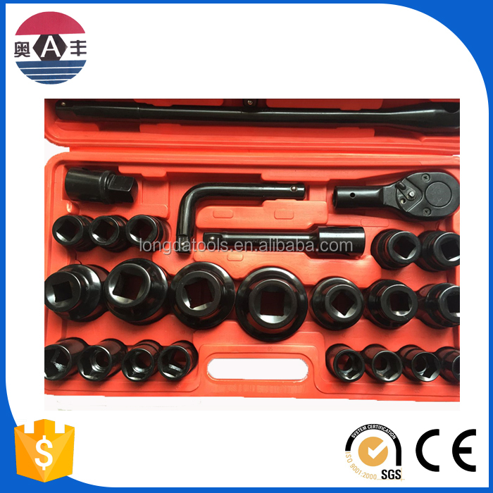 2616 China industrial grade Cr-V mirror 3/4 DR. metric 26pcs Universal Socket Wrench
