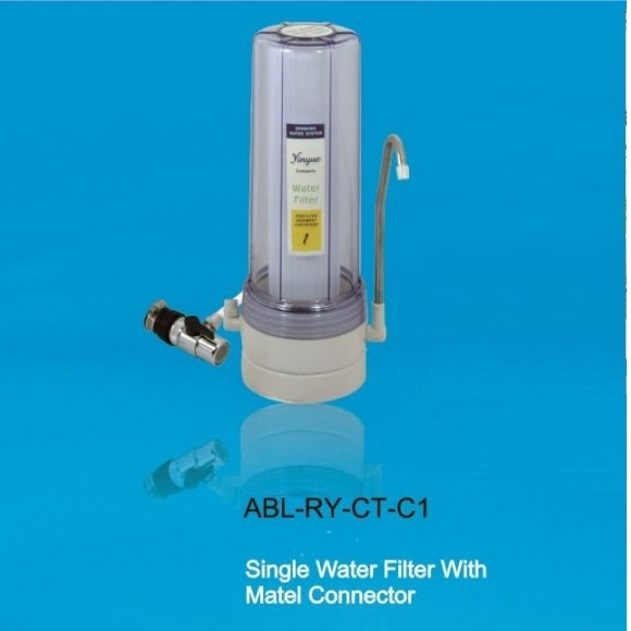 New design filter counter top water purifier with metal connector RY-CT-C1