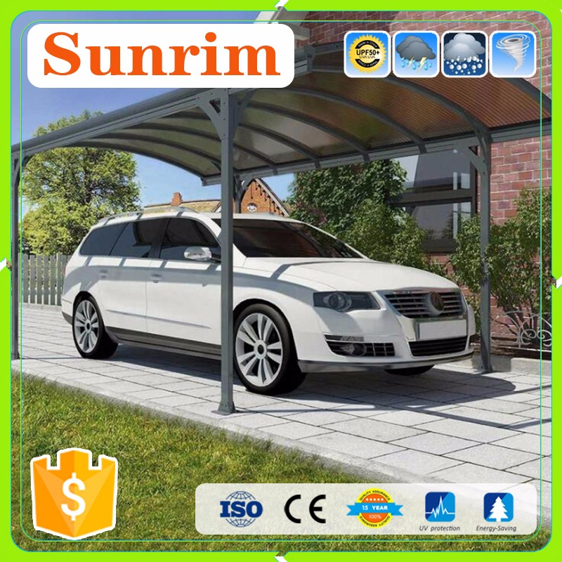 Aluminium Carports with Polycarbonate Sheet roof New Design used metal Carport to Garage