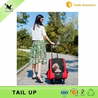 New Release Pet Travel Rolling Luggage Carrier Bag Backpack for Dogs & Cats