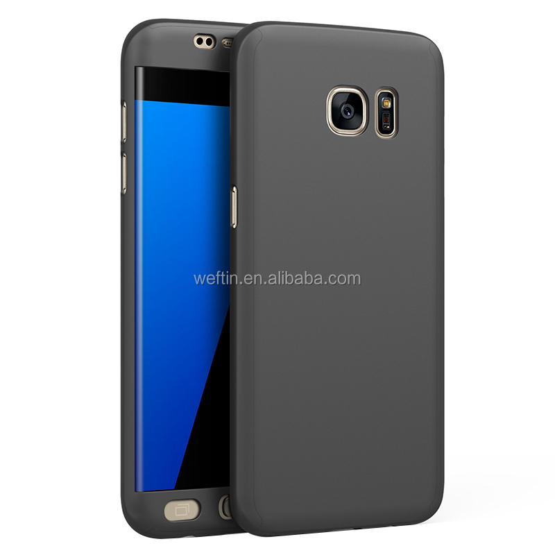 Cover for samsung galaxy s7 edge PC case 360 full protective