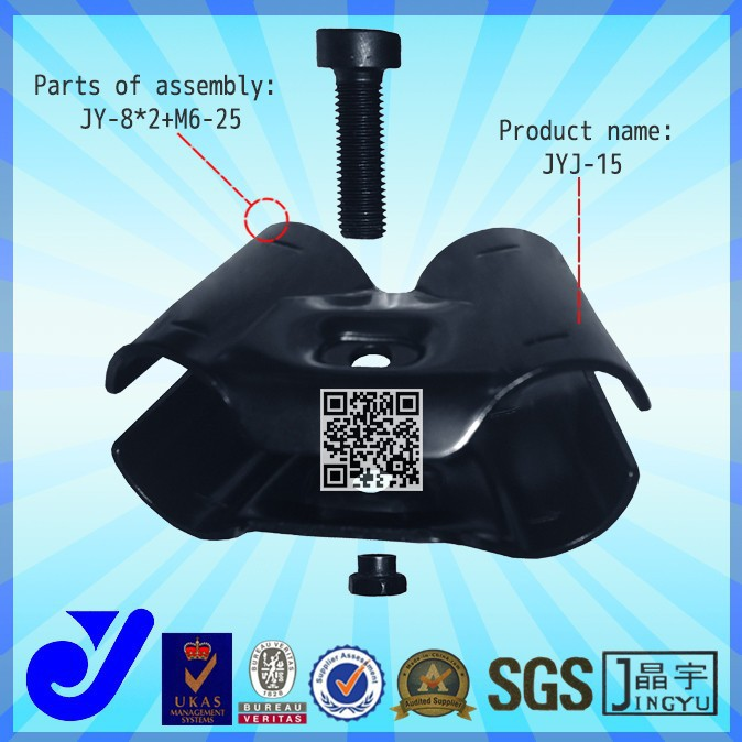 JYJ-15|pipe clamp joints for warehouse rack|OD28mm Metal Pipe Clamp for pipe rack