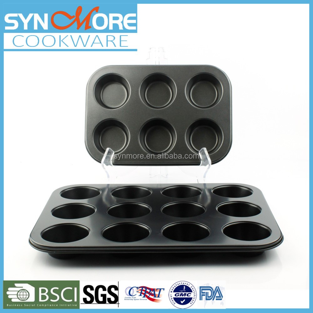 Hot Sell Carbon Steel 6/12 Muffins Baking Tin