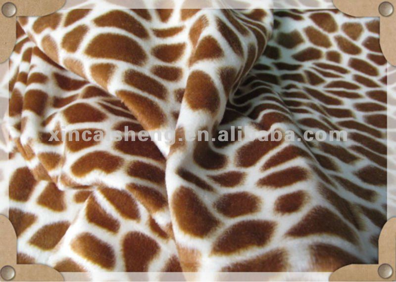 deer pattern fleece fabric/ plush fabric