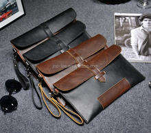 Amazon Hot selling hand bag PU leather clutch bag small bags for men