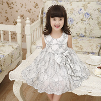 YDA2167kids frock designs pictures children lace embroidery net yarn princess girl dress