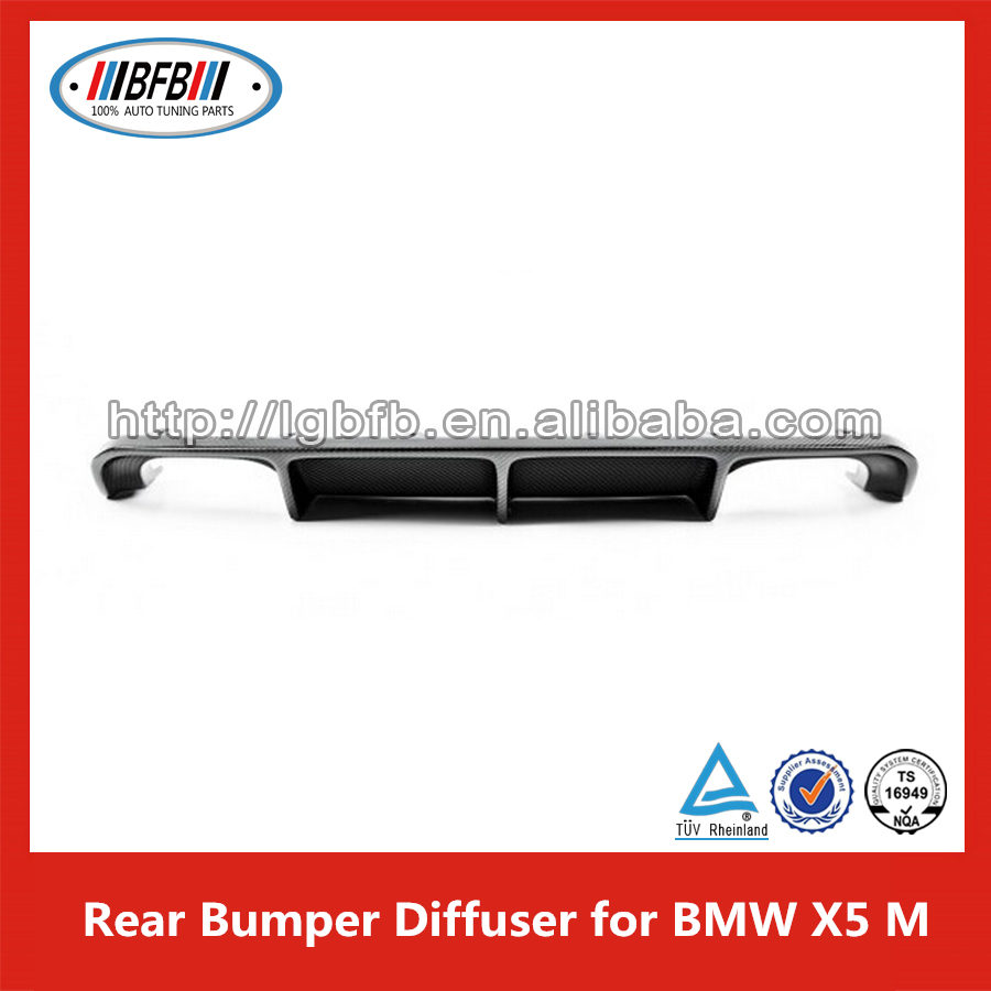 Lower Rear Bumper Diffuser Spoiler Lip Carbon Black For BMW X5 M