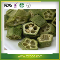 Cheap Price FD Fruits and Vegetables 100% Natural Freeze Dried Okra